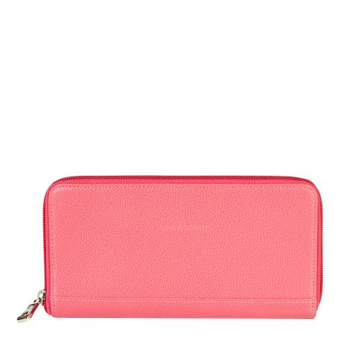 a8b4df160a47 Pink Le Foulonne Zip Around Wallet - BrandAlley