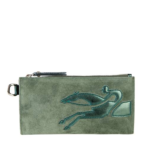 Longchamp Green Shop-It Pouch