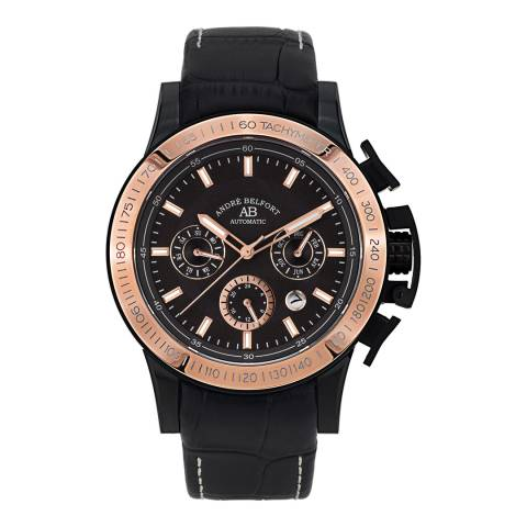 Andre Belfort Men's Black/Rose Gold Le Pilote Watch