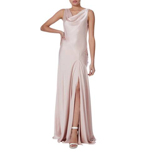 Amanda Wakeley Blush Bias Cowl Neck Maxi Dress
