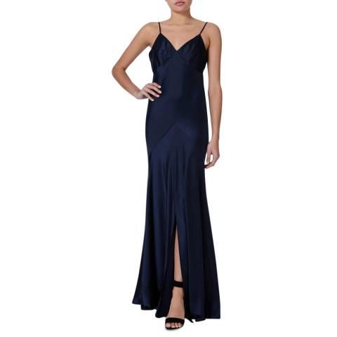 Amanda Wakeley Midnight Bias Strappy Maxi Dress