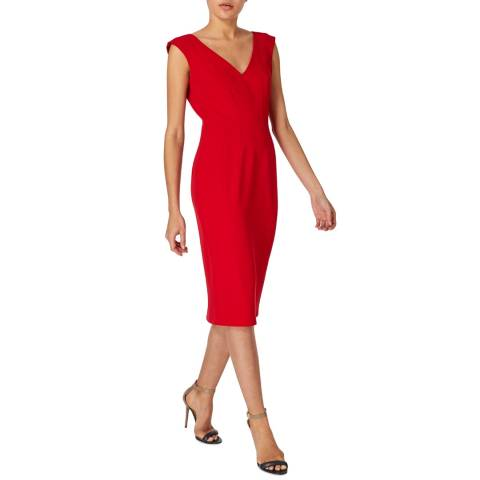 Amanda Wakeley Red Crepe Tailored Shift Dress