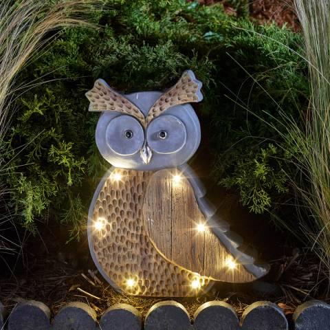 Smart Solar Woodstone Inlit Owl