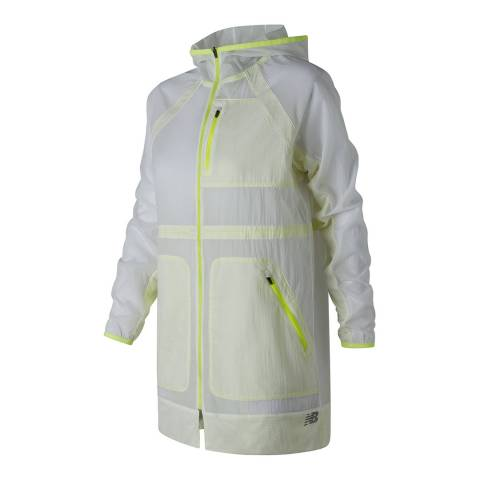 New Balance Performance White/Yellow Determination Jacket
