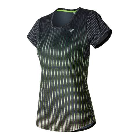 New Balance Performance Green/Black Short Sleeve Graphic