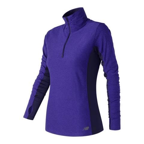 New Balance Performance Purple Space Dye Quarter Zip