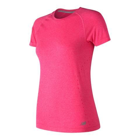 New Balance Performance Pink Short Sleeve Seamless T-Shirt