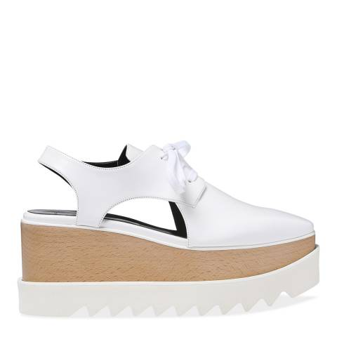 Stella McCartney White Elyse Cut Out Shoe