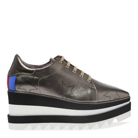 Stella McCartney Olive Gold Platform Shoe