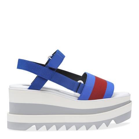 Stella McCartney Royal Blue & Red Elyse Sandal