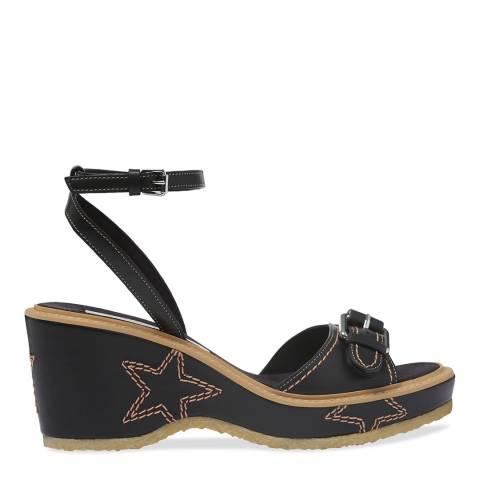 Stella McCartney Black Star Wedged Sandal