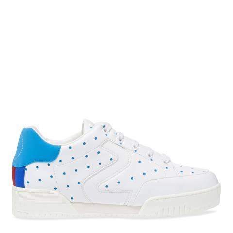 Stella McCartney White & Blue Fluo Sneaker