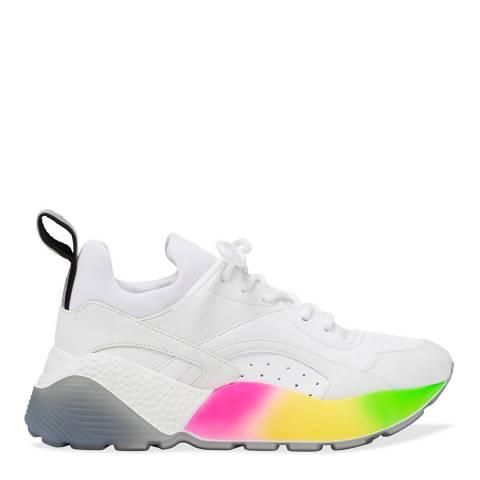 Stella McCartney White Rainbow Eclypse Sneaker