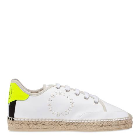 Stella McCartney White Raffia Sneaker