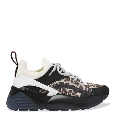 Stella McCartney Black & White Eclypse Leopard Sneaker