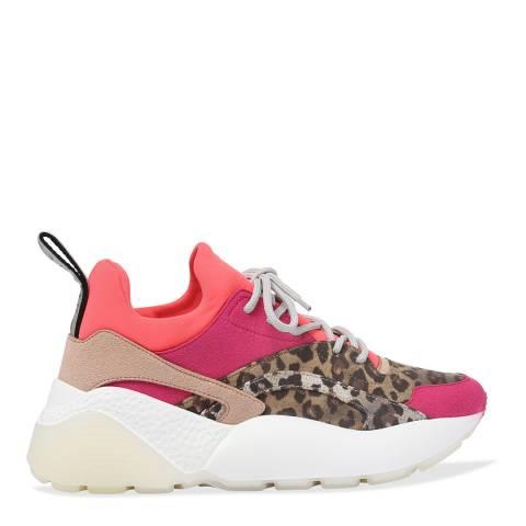 Stella McCartney Neon Eclypse Leopard Sneaker