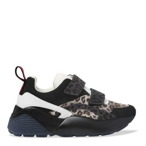 Stella McCartney Black Eclypse Leopard Sneaker