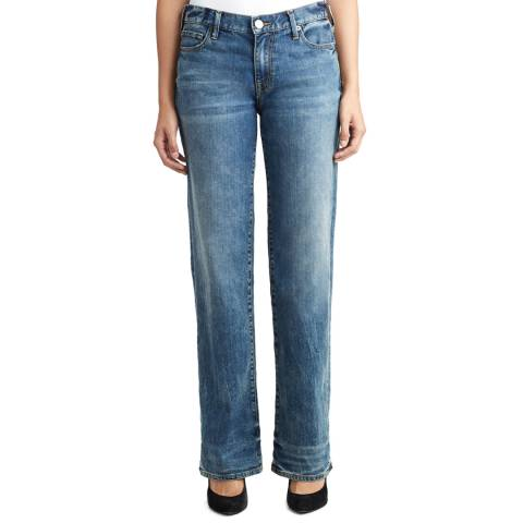 True Religion Dusted Sapphire Rumer Loose Relaxed Jeans