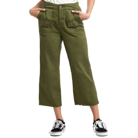 True Religion Military Green Utility High Rise Culotte