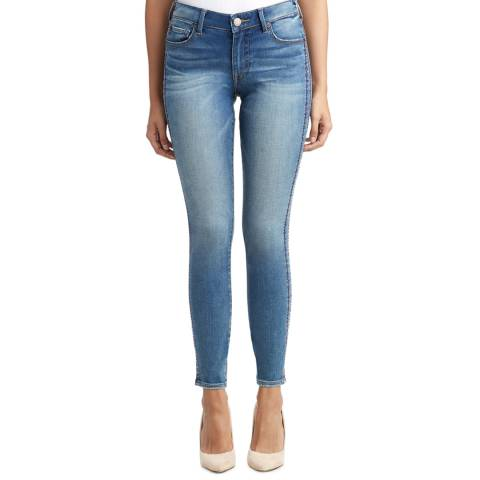True Religion Brushed Indigo Jennie Super Tuxedo Stripe Jeans