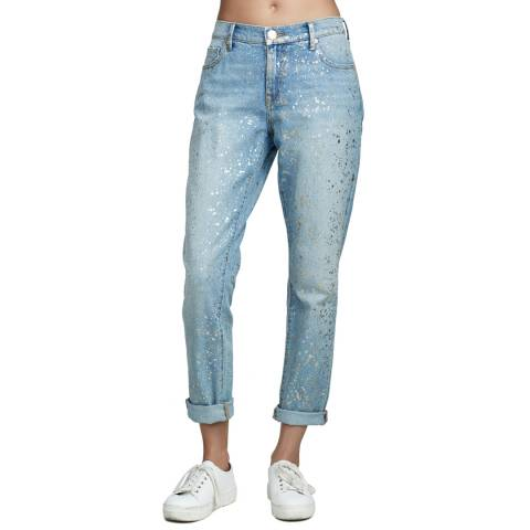 True Religion Ezal Chrome Cameron Slim Boyfriend Jeans
