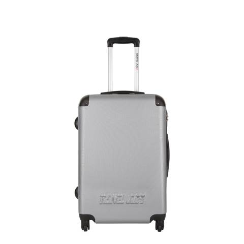 Travel One Silver 4 Wheel calev Suitcase 50cm