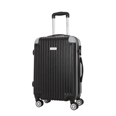 Travel One Black 8 Wheel Tecapa Suitcase 56cm