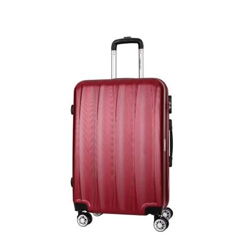 Travel One Burgundy 8 Wheel Eastend Suitcase 56cm
