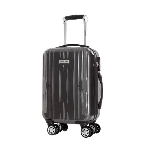 Travel One Grey 8 Wheel Clifton Suitcase 55cm