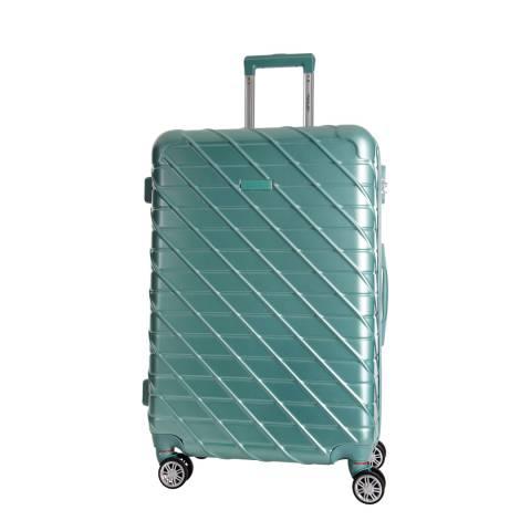 Travel One Green 8 Wheel Leiria Suitcase 55cm