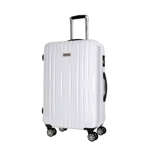 Travel One White 8 Wheel Clifton Suitcase 55cm