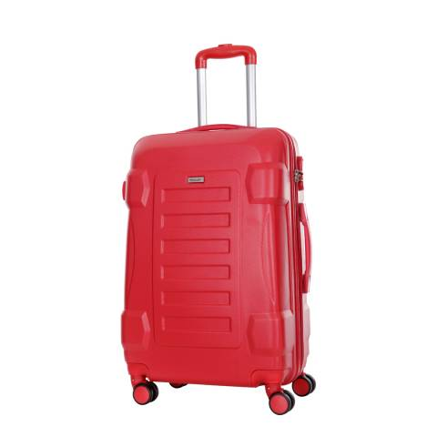 Travel One Red 8 Wheel Linden Suitcase 60cm