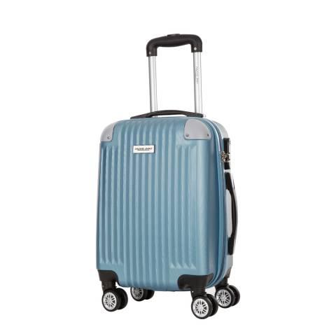Travel One Oil Blue 8 Wheel Tecapa Suitcase 56cm