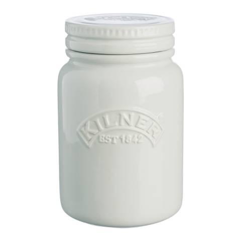 Kilner Moon Grey Ceramic Push Top Jar, 600ml
