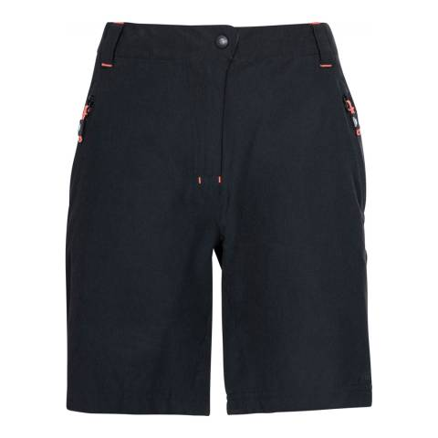 Trespass Black/Peach Brooksy Shorts