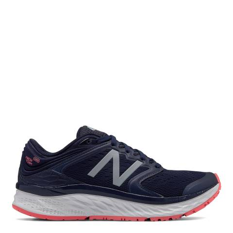 New Balance Performance Navy Mesh Fresh Foam 1080v8 Sneakers