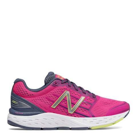 New Balance Performance Neon Pink Mesh 680v5 Sneakers