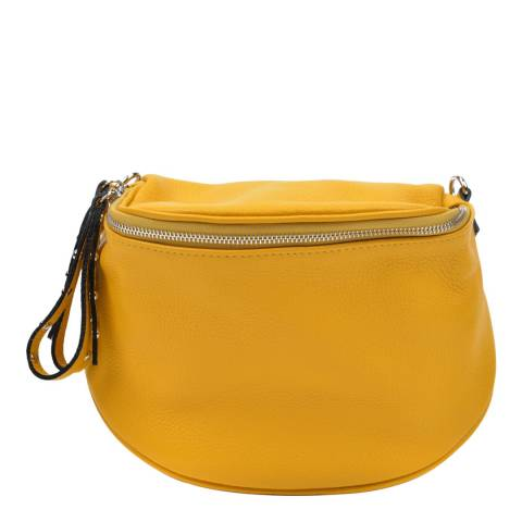 Anna Luchini Mustard Anna Luchini Pouch Shoulder Bag
