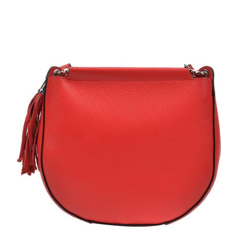 Anna Luchini Red Anna Luchini Tassel Shoulder Bag