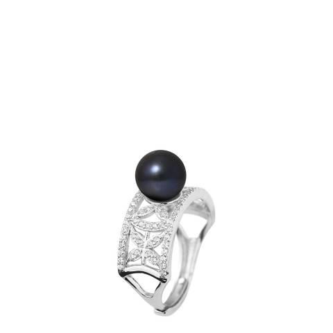Ateliers Saint Germain Black Tahitian Round Pearl Ring 8-9mm