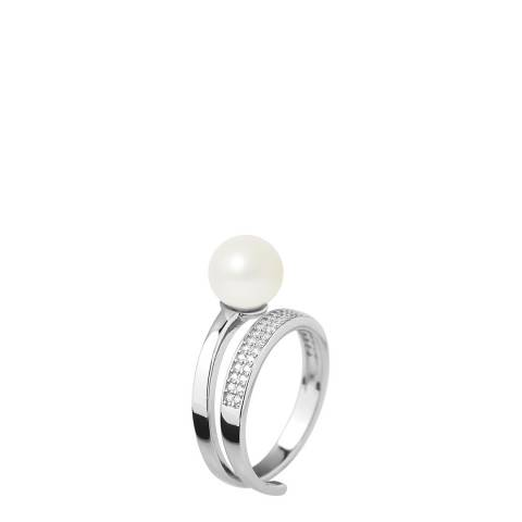Ateliers Saint Germain Natural White Round Pearl Ring 8-9mm