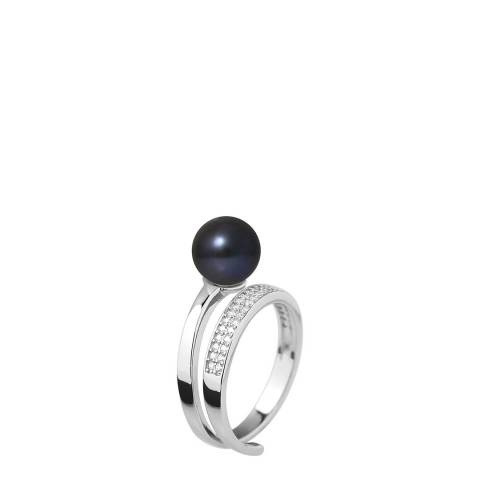 Ateliers Saint Germain Black Tahitian Round Pearl Ring 8-9mm
