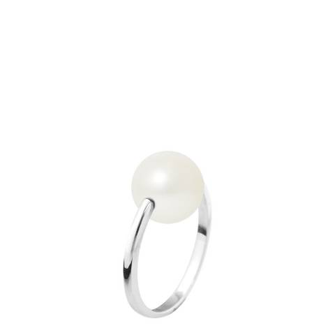 Ateliers Saint Germain Natural White Gold Round Pearl Ring 9-10mm