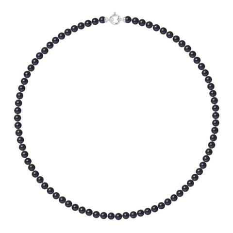 Ateliers Saint Germain Black Tahitian Round Pearl Necklace 5-6mm