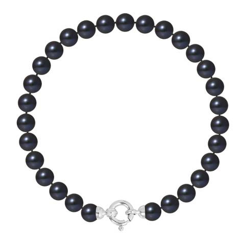 Atelier Pearls Black Tahitian Row of Round Pearl Bracelet 6-7mm