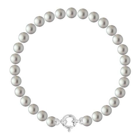 Ateliers Saint Germain Grey Row of Round Pearl Bracelet 6-7mm