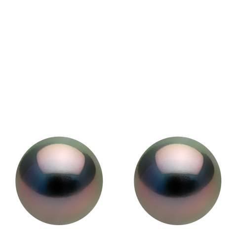 Ateliers Saint Germain White Gold/Tahiti Half Round Pearl Earrings 7.5-8mm