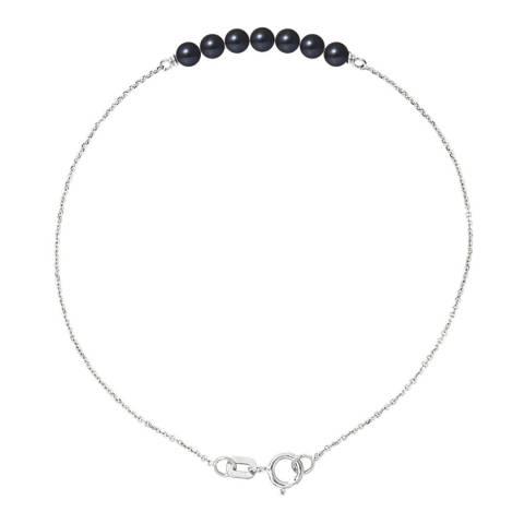 Atelier Pearls Black Tahitian 7 Round Pearl Bracelet 3-4mm