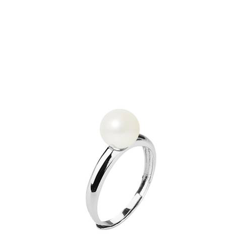 Atelier Pearls Natural White Round Pearl Ring 7-8mm