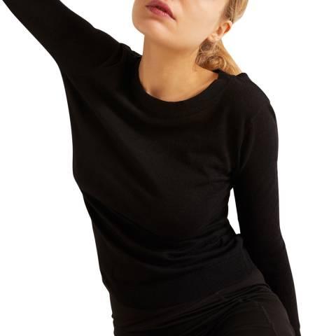 Rodier Black Halter Top Pullover